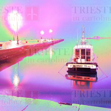 Il molo Audace di Trieste in un'immagine in technicolor!