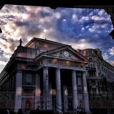 palazzo della Borsa dalla Portizza