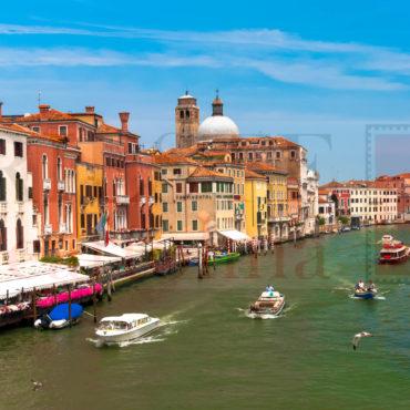 Una vista sul Canal Grande di Venezia