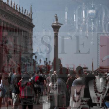 Riflessi sulla piazza S. Marco a Venezia