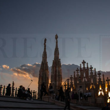 I selfie sul Duomo al tramonto
