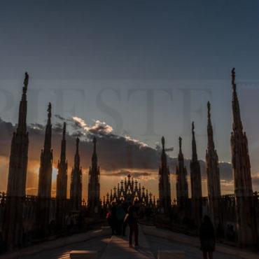In cima al Duomo al Tramonto