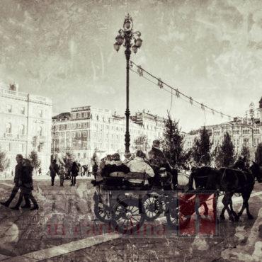 Carrozza antica in piazza