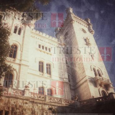 Un particolare del castello di Miramare