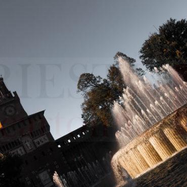 Fontana castello Sforzesco