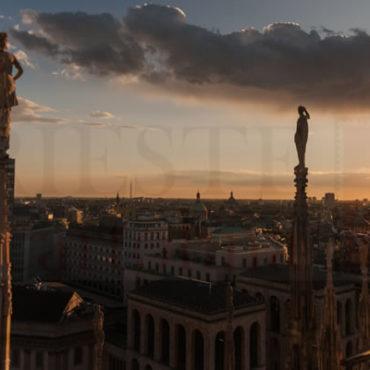 Vista dal Duomo di Milano