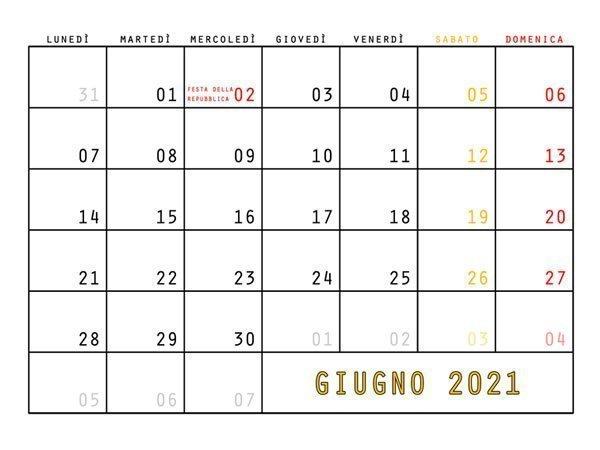 Il datario del Calendario Trieste 2021